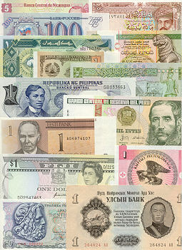 Banknote Regular Set of 2000 different world banknotes UNC