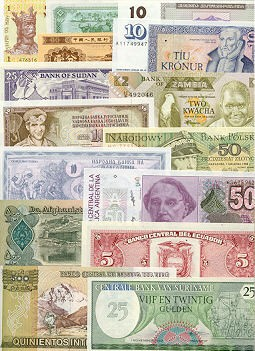 Banknote Regular Set of 300 different world banknotes UNC
