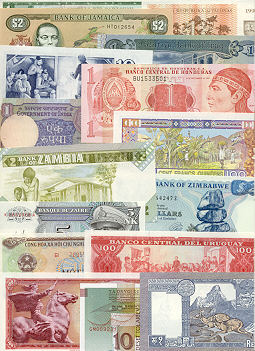Banknote Regular Set of 50 different world banknotes UNC