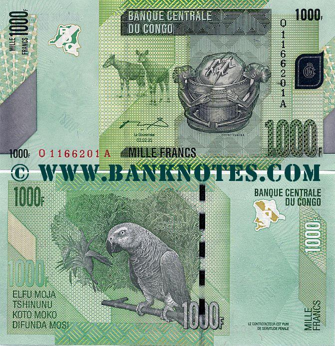 Congo Democratic Republic 1000 Francs 2.2.2005 (2012) (O11662xxA) UNC