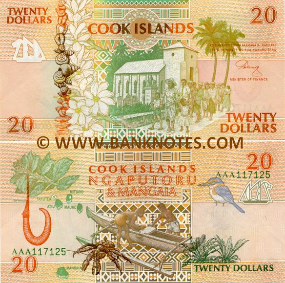 Cook Islands 20 Dollars (1992) (AAA 117065) AU