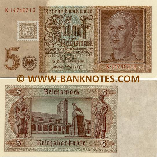 German Democratic Republic 5 Mark 1948 (K.14748299) UNC