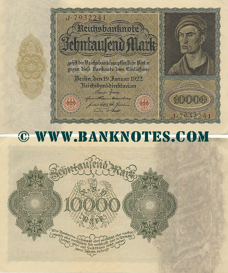 Germany 10000 Mark 19.1.1922 (J.7932241) AU
