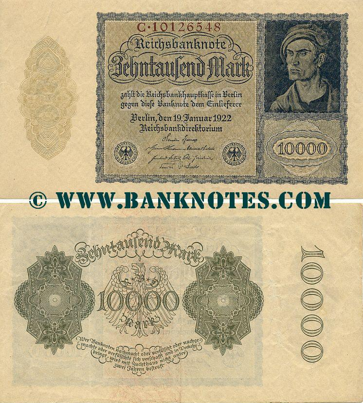 Germany 10000 Mark 1922 (11P.267888) UNC-