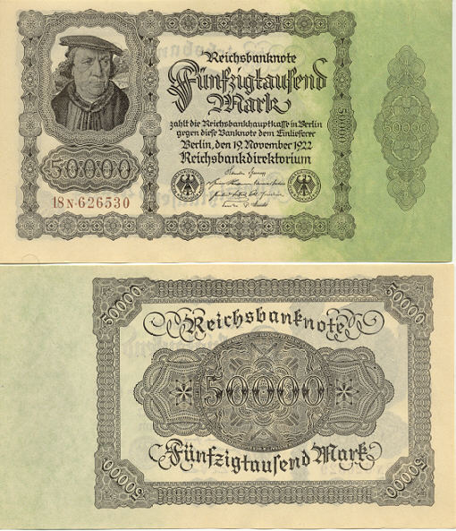 Germany 50000 Mark 19.11.1922 (18N.625513) UNC
