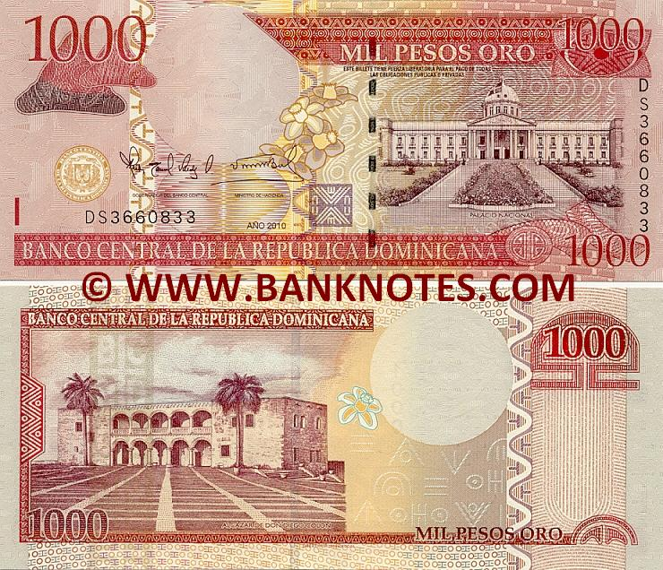 Dominican Republic 1000 Pesos Oro 2010 (DS3660833) UNC
