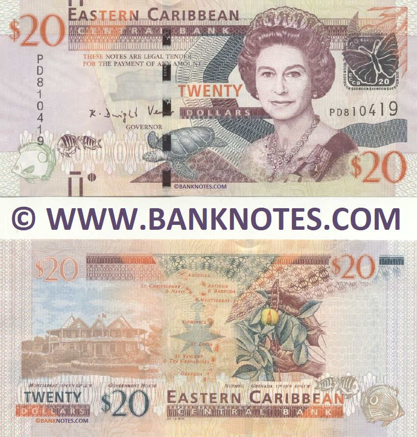 East Caribbean States 20 Dollars (2012) (PD810421) UNC