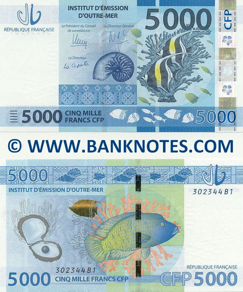 French Pacific Territories 5000 Francs (2014) (302346B1) UNC