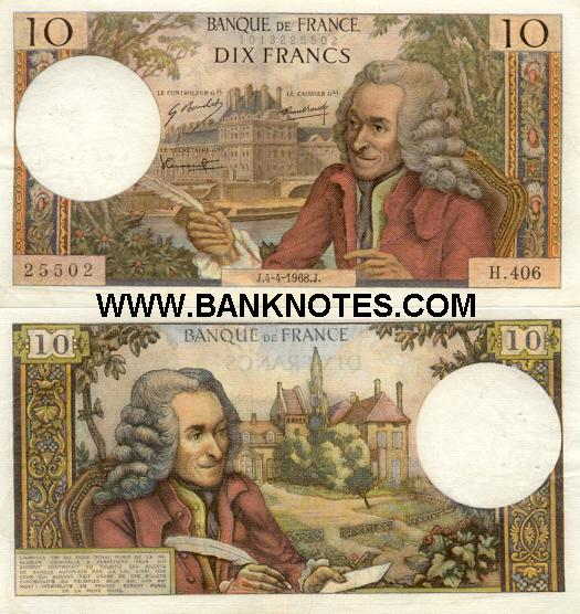 France 10 Francs P.5.11.1971.P. (R.720/1799125401) (circulated) F