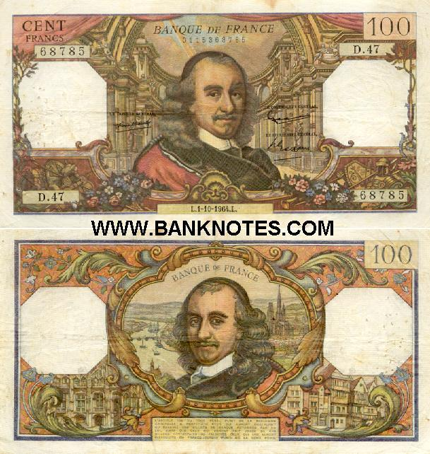 France 100 Francs 7.2.1974 (D.791/1975379568) (circulated) VF