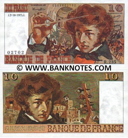 France 10 Francs M.4.4.1974.M. (S.43/0106733604) (circulated) VG-F