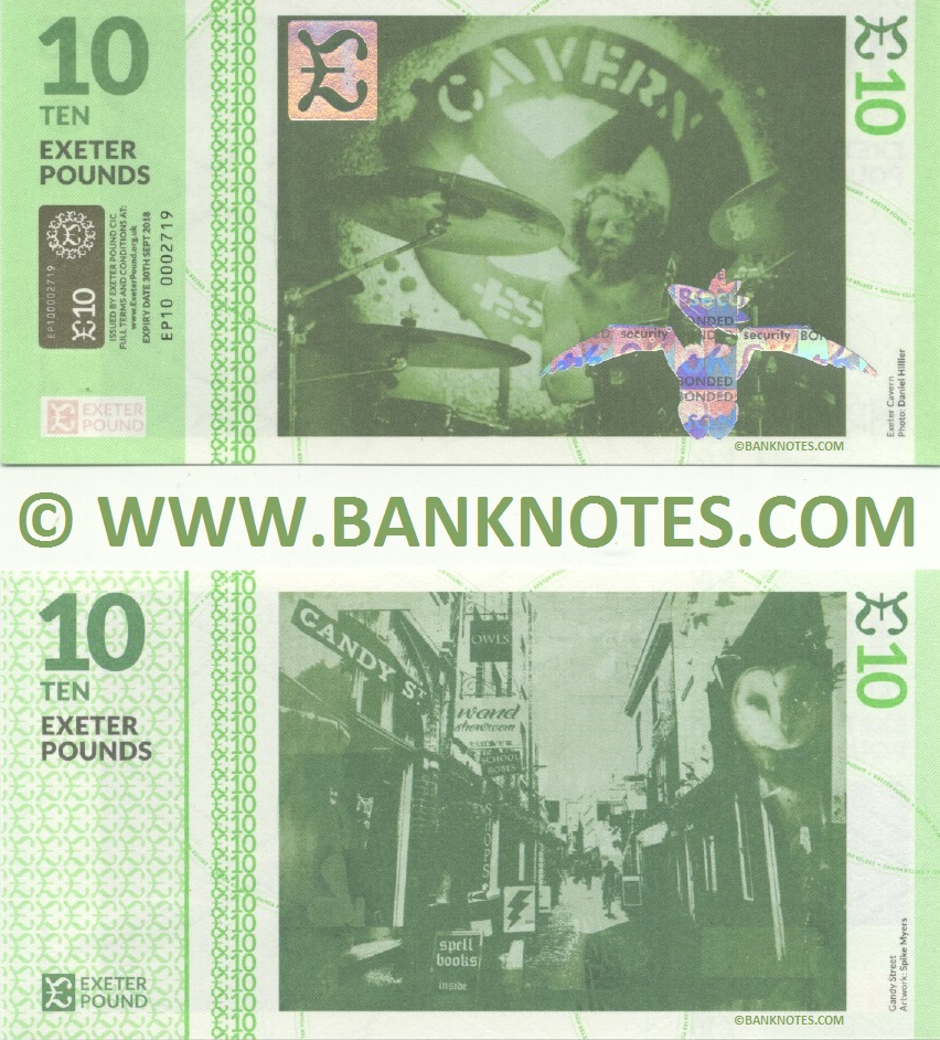 Great Britain 10 Exeter Pounds 2015 (EP10/00027xx) UNC