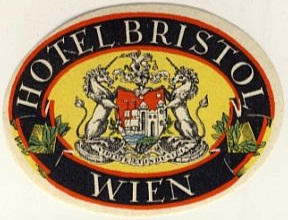 Austria: Vienna: Hotel Bristol (never hinged, with full glue)