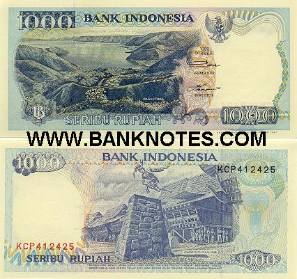 Indonesia 1000 Rupiah 1992/1997 (KCP4124xx) UNC