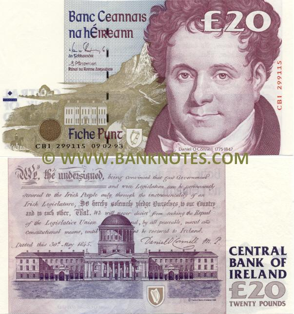 Ireland (Eire) 20 Pounds 14.6.1995 (KAB 710113) (circulated) F-VF