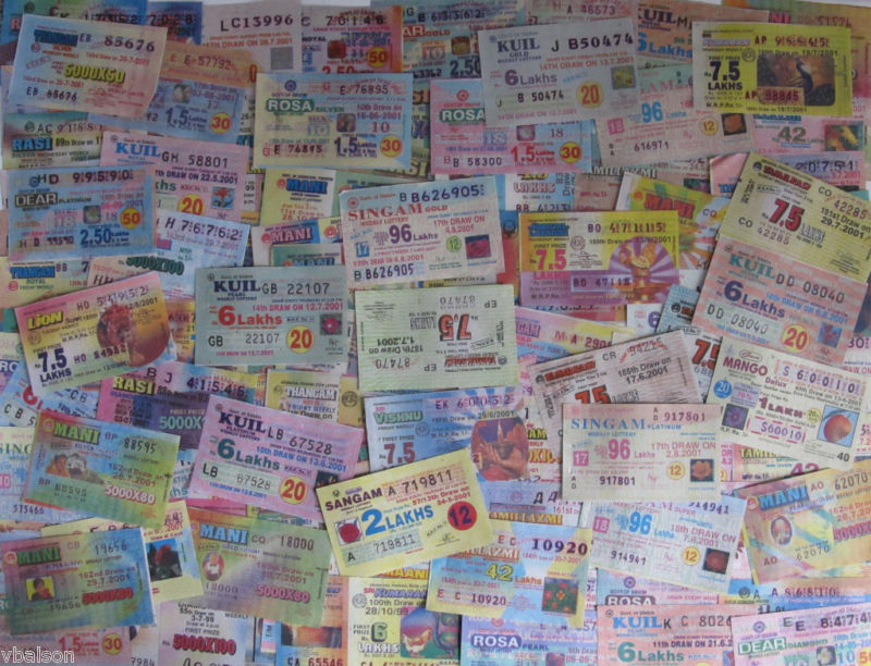 India 100 different lottery tickets (dated around year 2000)
