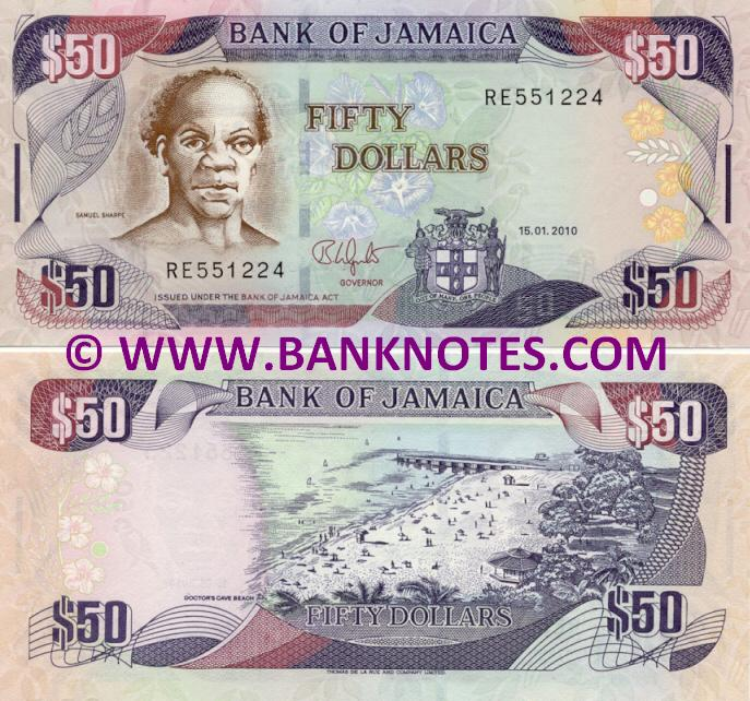 Jamaica 50 Dollars 15.1.2010 (RE5512xx) UNC