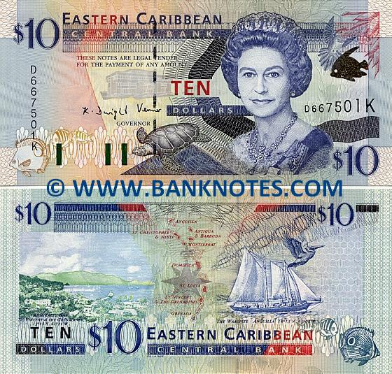 Saint Kitts & Nevis 10 Dollars (2000) (D667507K) UNC