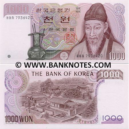 Korea (South) 1000 Won (1983) (MeoGeoNeo 14783xx) UNC