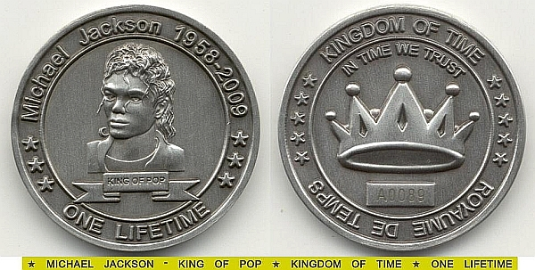 Kingdom of Time: Coin: One Lifetime 2009 (# A0004) UNC