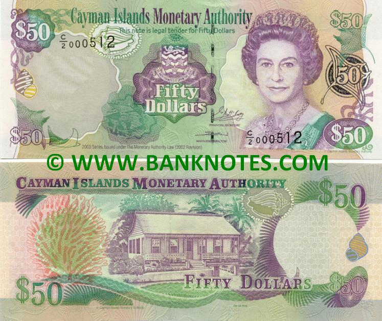 Cayman Islands 50 Dollars 2003 (C/2 000512) UNC