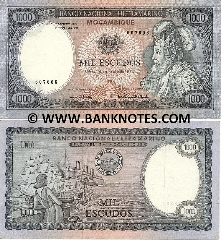 Mozambique 1000 Escudos 1972 (893140) (lt. circulated) XF-AU