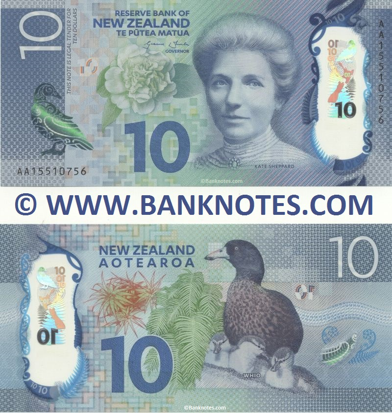 New Zealand 10 Dollars 2015 (AA155107xx) Polymer UNC