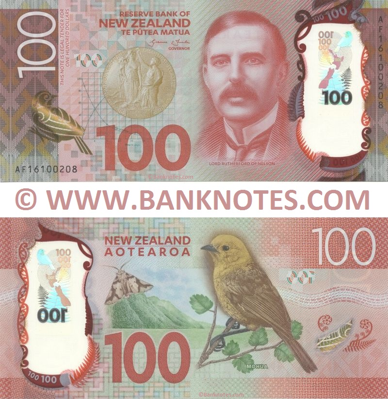 New Zealand 100 Dollars 2016 (AF16100208) Polymer UNC