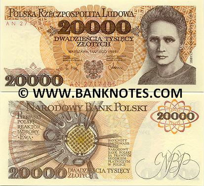 Poland 20000 Zlotych 1989 (AN 3879636) UNC