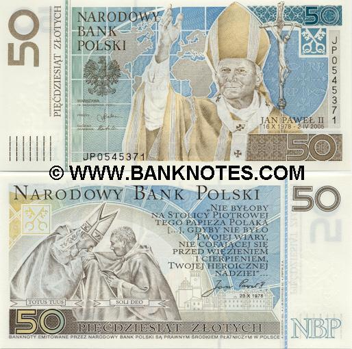 Poland 50 Zlotych 2006 (JP0545382) (without folder) UNC