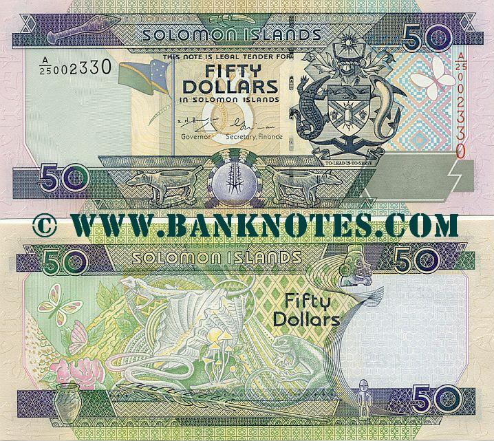 Solomon Islands 50 Dollars (2001) (A/25 002330) UNC