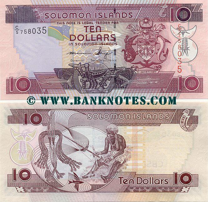 Solomon Islands 10 Dollars (2011) (C/5 7580xx) UNC
