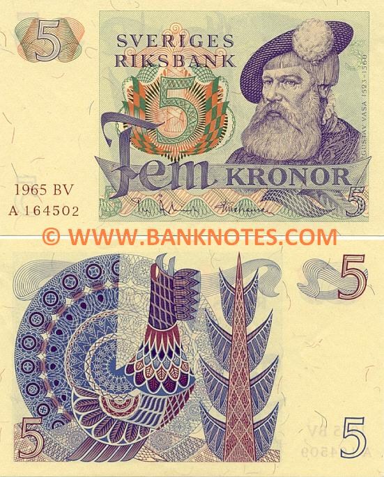 Sweden 5 Kronor 1976 (CY/X471818) UNC