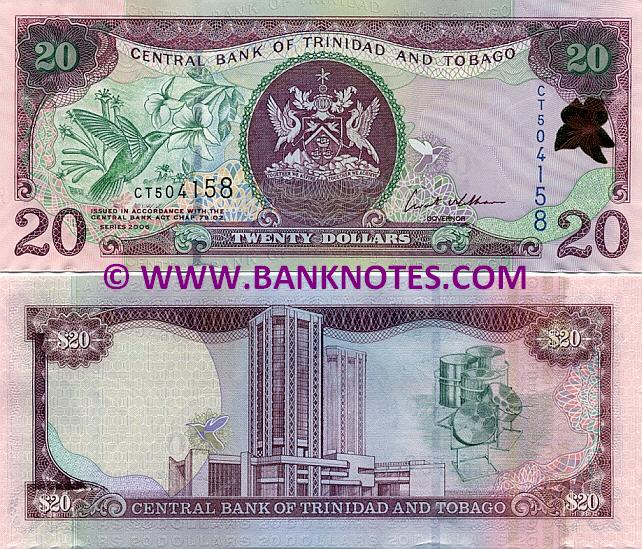 Trinidad & Tobago 20 Dollars 2006 (CT504154) UNC