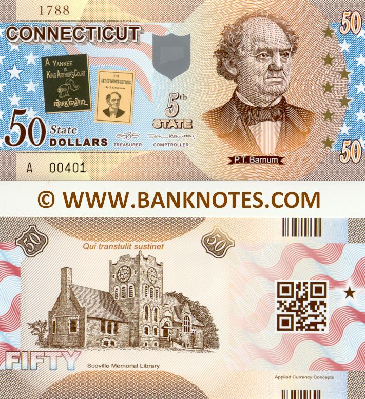 United States of America Connecticut 50 State Dollars (2014) (Commemorative) (A004xx) UNC