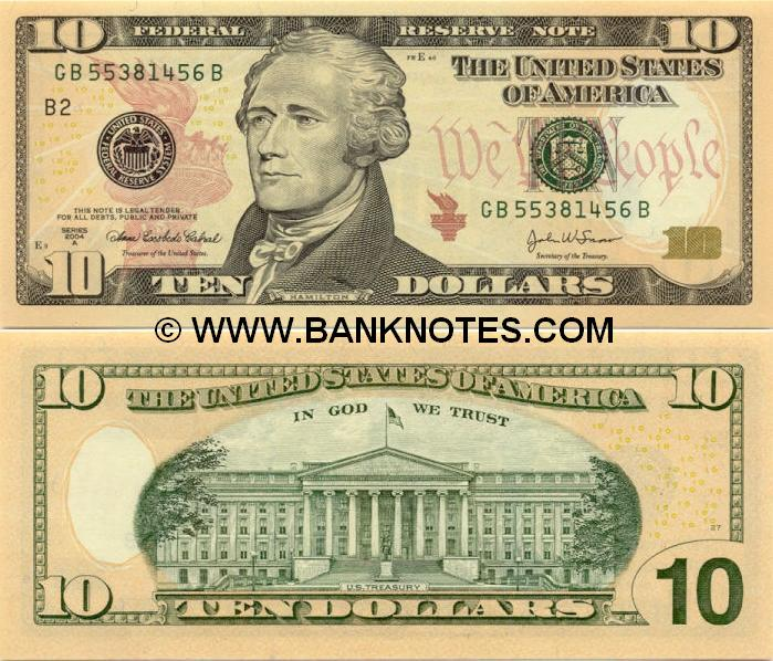 United States of America 10 Dollars 2004-A (GJ22374700A) (J10: KC, MO) AU