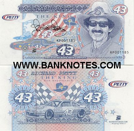 USA: Naples BNC Forty Three 2002 (Richard Petty Commemorative) (RP001185) UNC