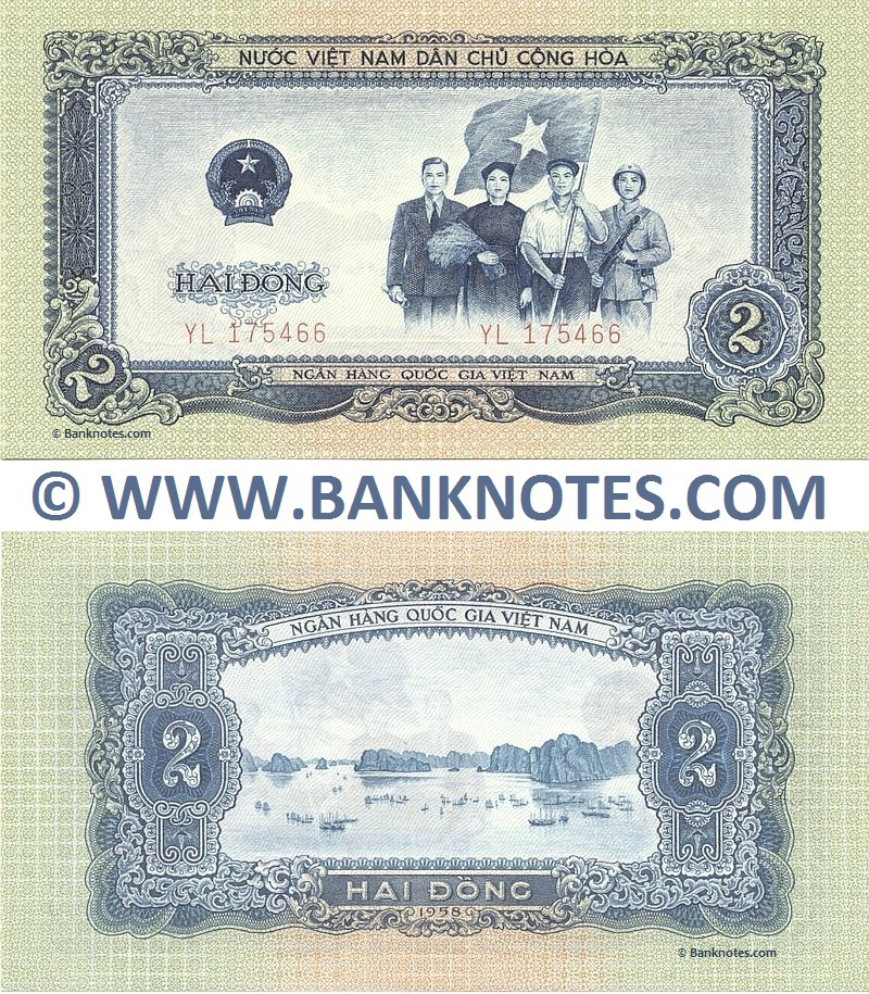 Viet-Nam 2 Dong 1958 (YL 175466) UNC