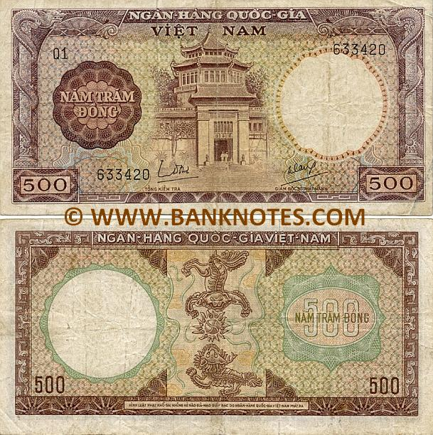 South Viet-Nam 500 Dong (1964) (L1/348855) (circulated) F-VF