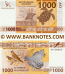 French Pacific Territories 1000 Francs (2014) (471xxxxx) UNC