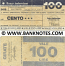 Italy Mini-Cheque 100 Lire 6.4.1977 (Il Banco Ambrosiano, Milano) (991486554) (circulated) VG-F