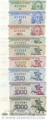 Transnistria Set (9) of 1, 5, 10, 50, 100, 200, 500, 1000, 5000 Rubles 1993-94 UNC