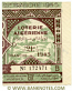 Algeria lottery half-ticket 130 Francs 1945. Serial # 172471 XF-AU