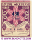 Algeria lottery 1/2 ticket 430 Francs 1954 Serial # 116658 UNC