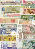 Banknote Regular Set of 500 different world banknotes UNC