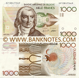 Belgium 1000 Francs (1980-96) (Sig: Bertholomé + Verplaetse) (62108477649) (circulated) XF