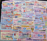 Bhutan 50 different lottery tickets (Beginning of XXI century)