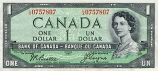 Canada 1 Dollar 1954 (I/A2677943) (circulated) VF+