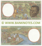 Central African Republic 1000 Francs 1999 (F 99093829xx) UNC
