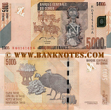 Congo Democratic Republic 5000 Francs 2.2.2005 (2012) (R04141xxA) UNC